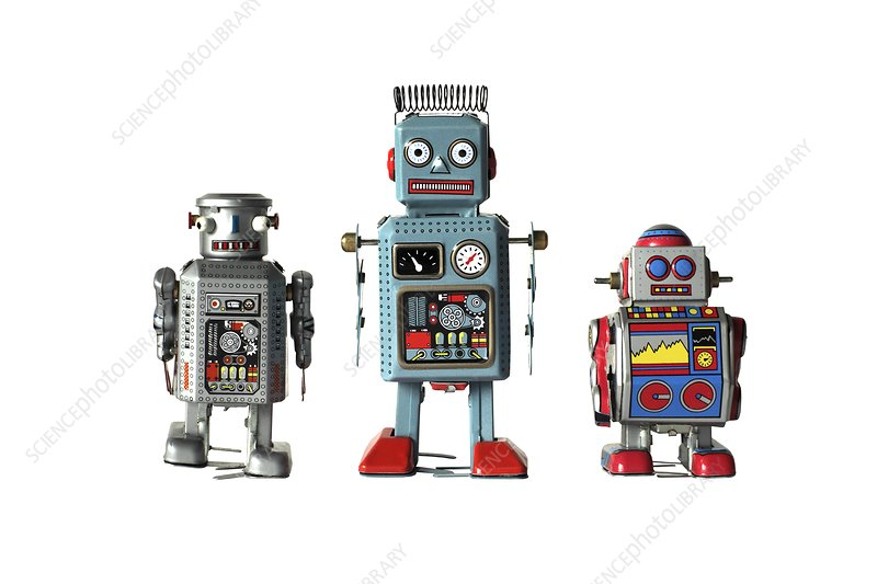 Clockwork toy robots