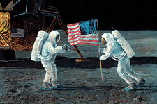 Apollo 11 Moon landing, 1969, artwork