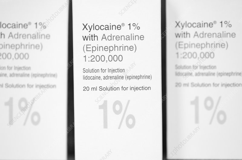 Xylocaine anaesthetic packets