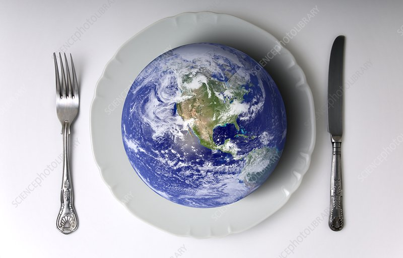 Global food needs, conceptual image