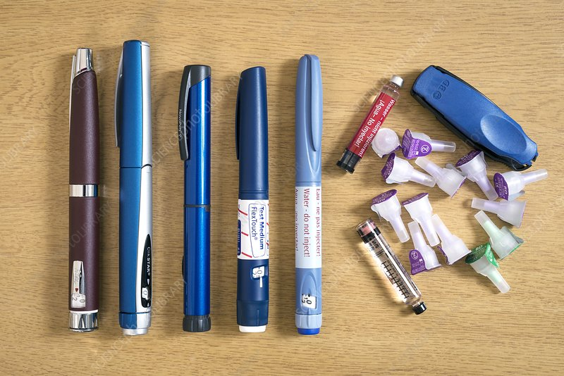 Diabetes insulin pens and equipment