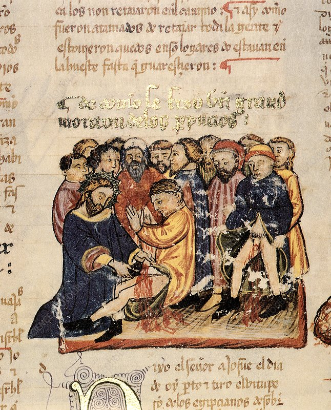Circumcising the Israelites, 1430 artwork
