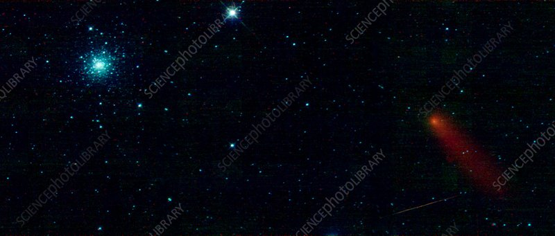 M3 star cluster and Comet Garradd