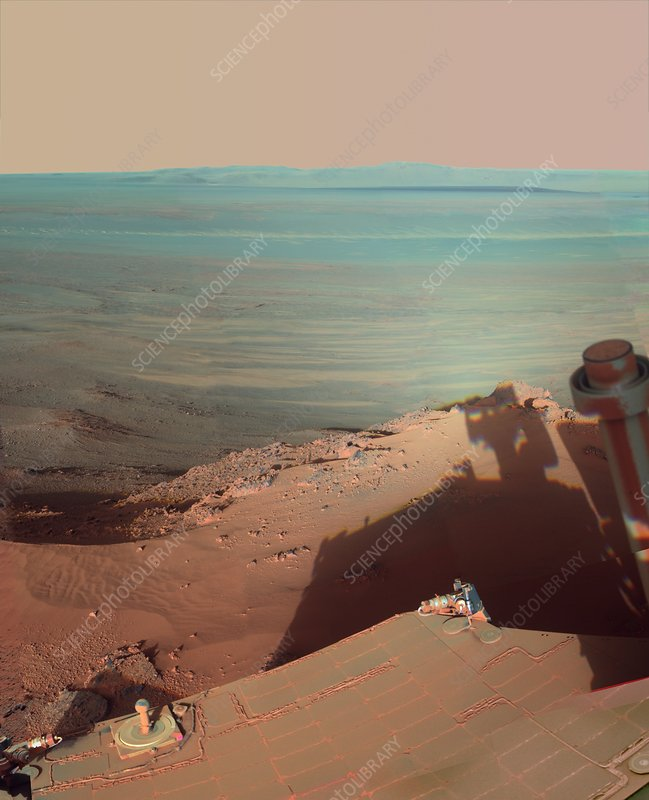 Endeavour Crater, Mars, rover photograph