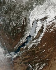 Lake Baikal, Russia, satellite image