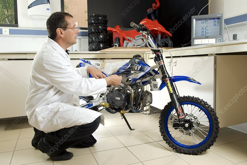 Mini motorbike health and safety testing