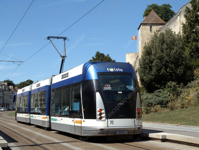 Guided tram transport system