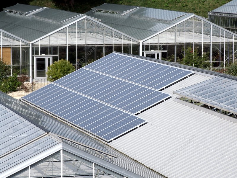 Greenhouse solar panels
