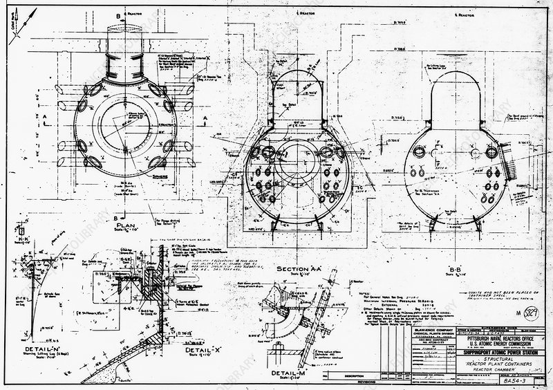 Nuclear power plant components, diagram