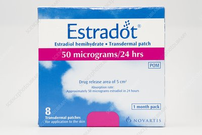 Estradot hrt patches stock image c015 5320 science photo library