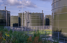 Sewage sludge treatment and plant