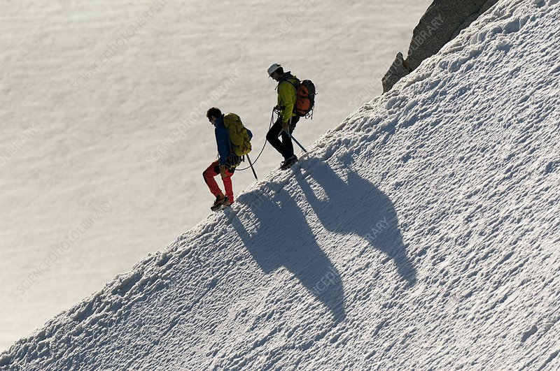 Mountaineering in the French Alps