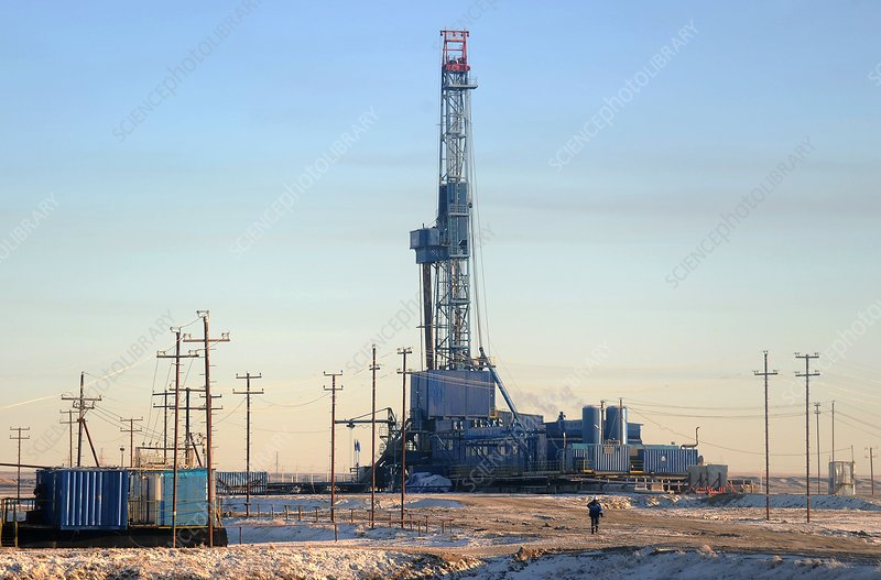 Gas drilling rig, Russia