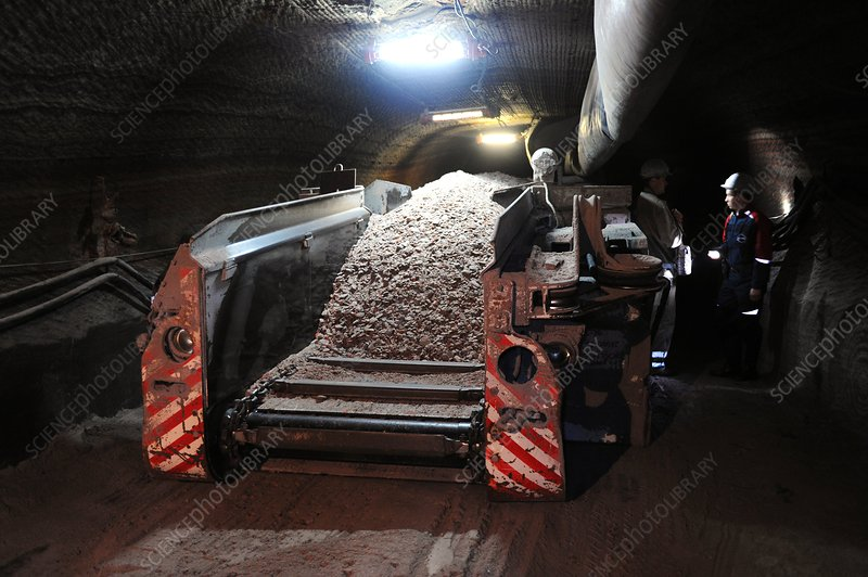 Potash in a mine, Russia