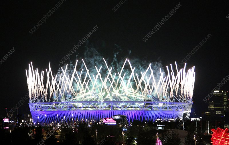 Fireworks at London 2012 opening