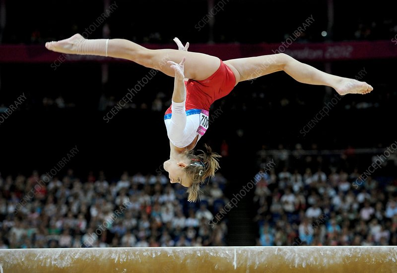 Gymnast on the beam, London 2012