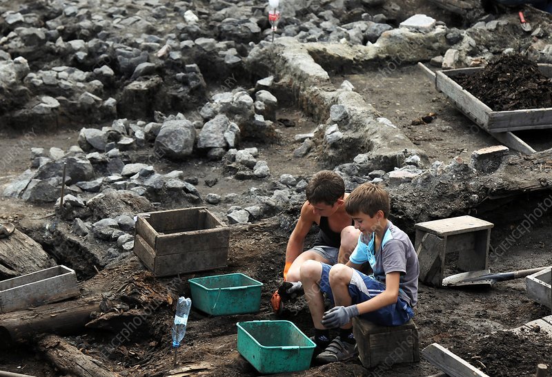 Excavations at old city of Novgorod
