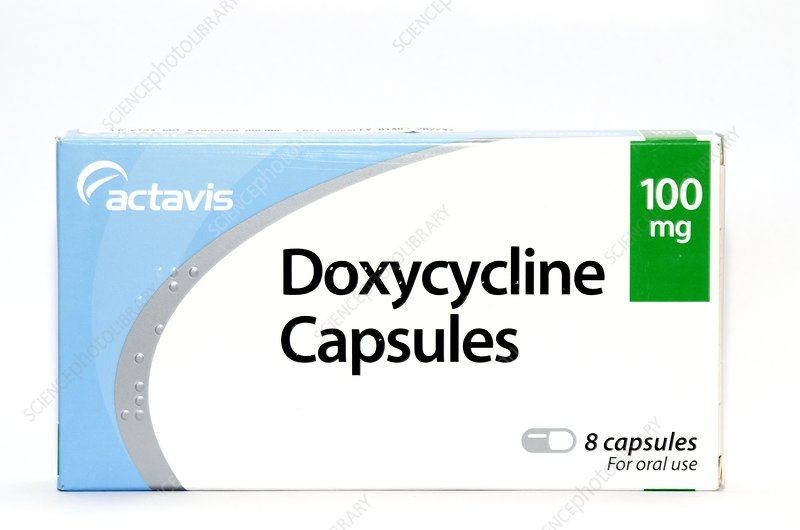 Pack of Doxycycline capsules