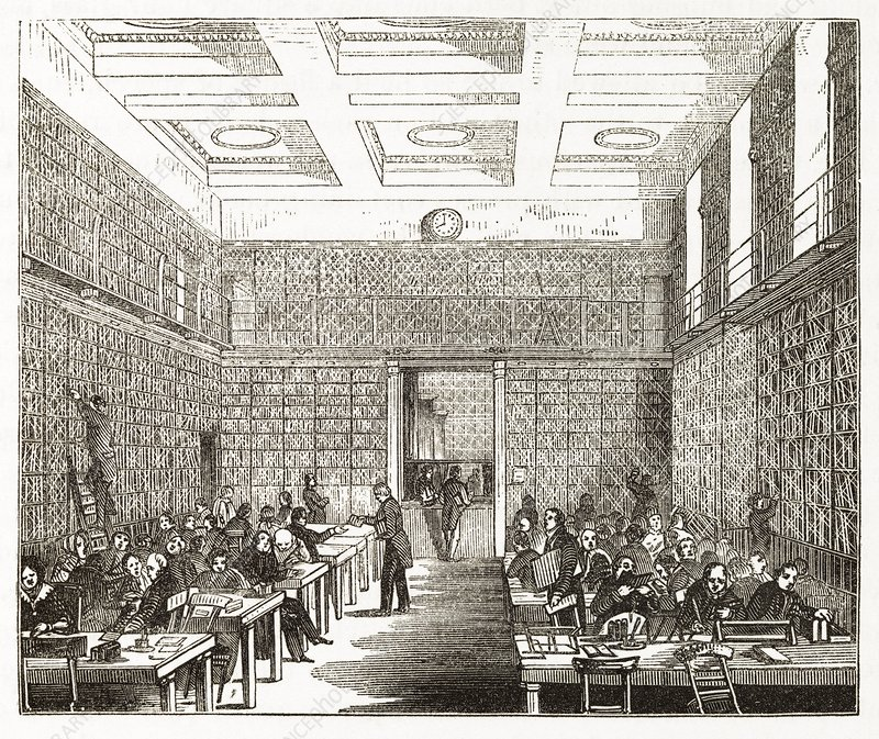 British Museum library, 19th century