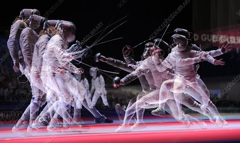Multiple exposure of fencers