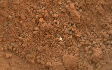 Martian soil, Curiosity image