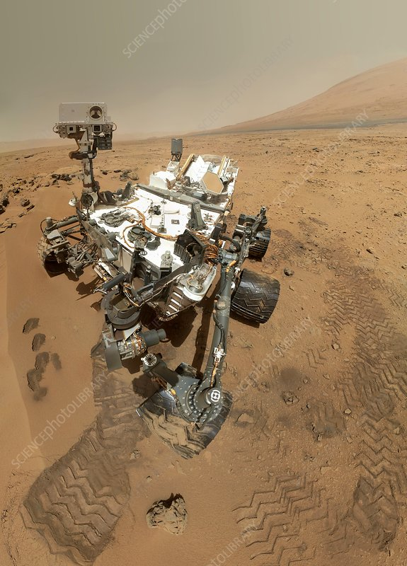 Mars Curiosity rover self-portrait