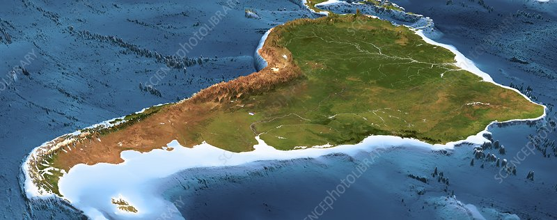 South America, 3D artwork