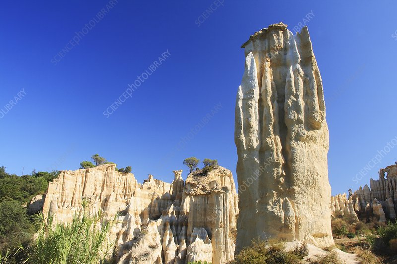 Hoodoo rock formations, France