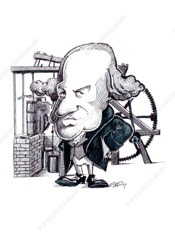 James Watt, caricature