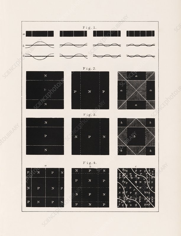 Acoustic vibration patterns, 19th century