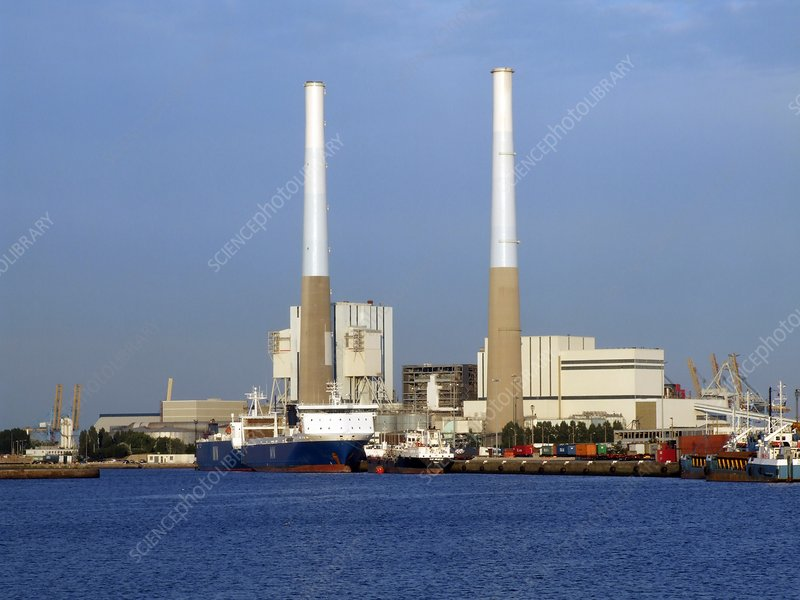 Thermal power station, France