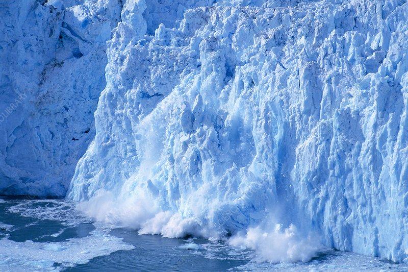 Calving front of Yahtse Glacier, Alaska