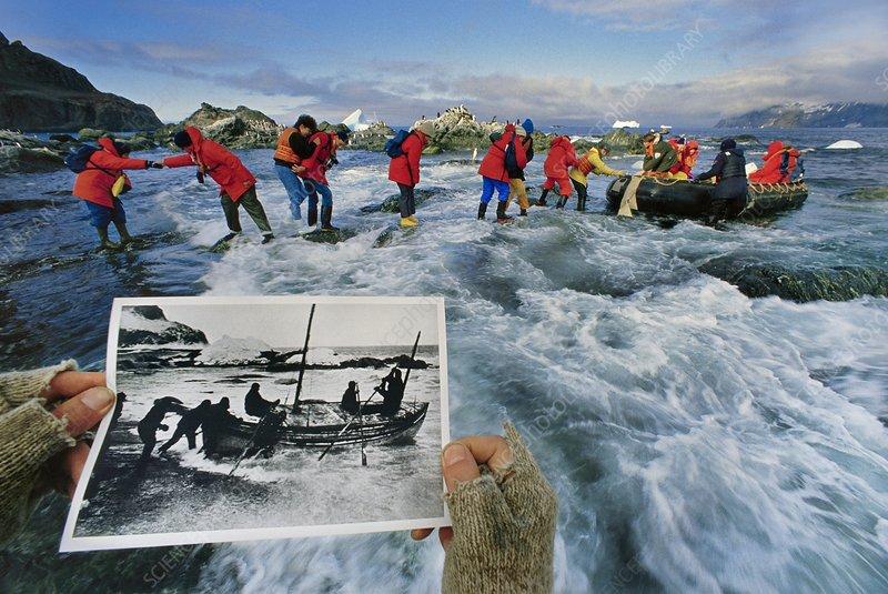 Ernest Shackleton's heroic journey begins