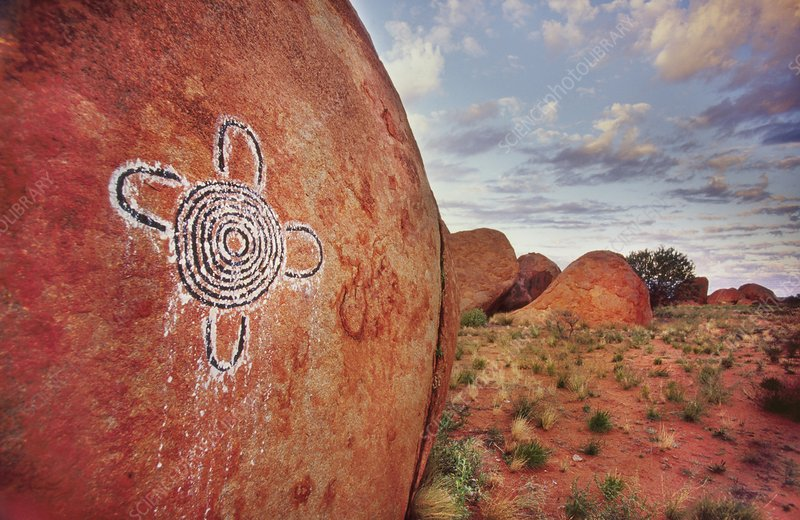 Pintupi rock painting, Central Australia