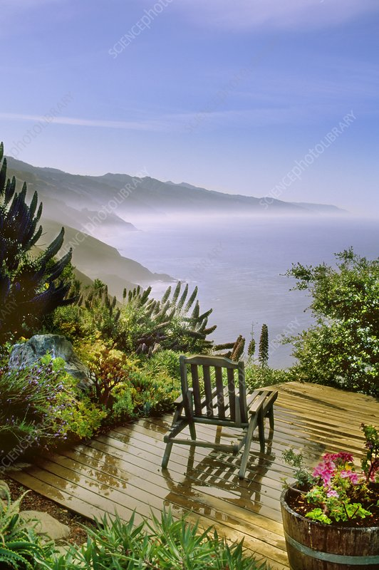 View from a terrace over the Pacific