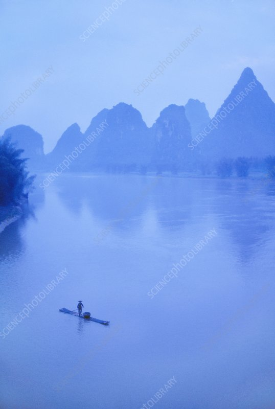 Fisherman on Li River, Guilin, China