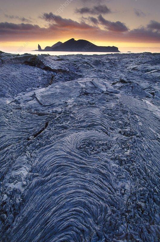 Lava flows, Galapagos Islands