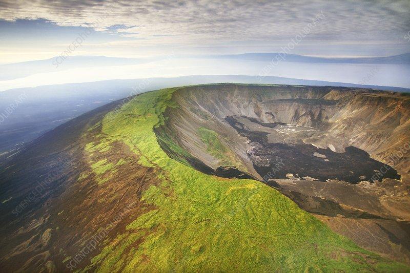 Volcano caldera, Galapagos Islands