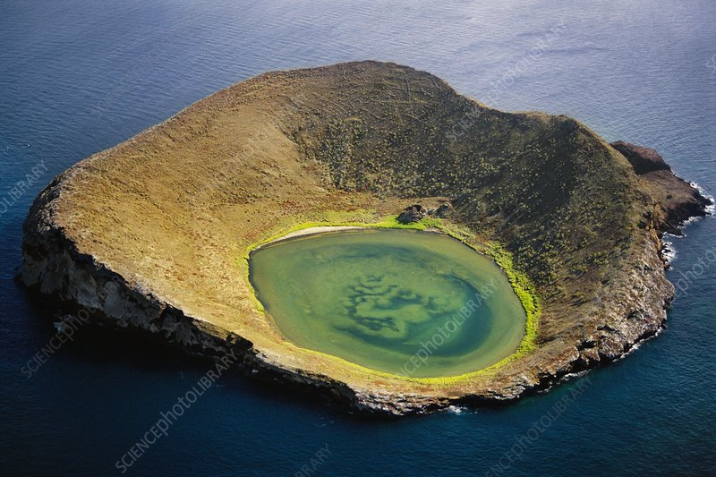 Volcanic crater, Galapagos Islands