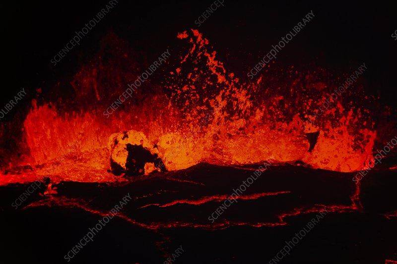 Lava lake in Pu'u 'O'o crater, Hawaii