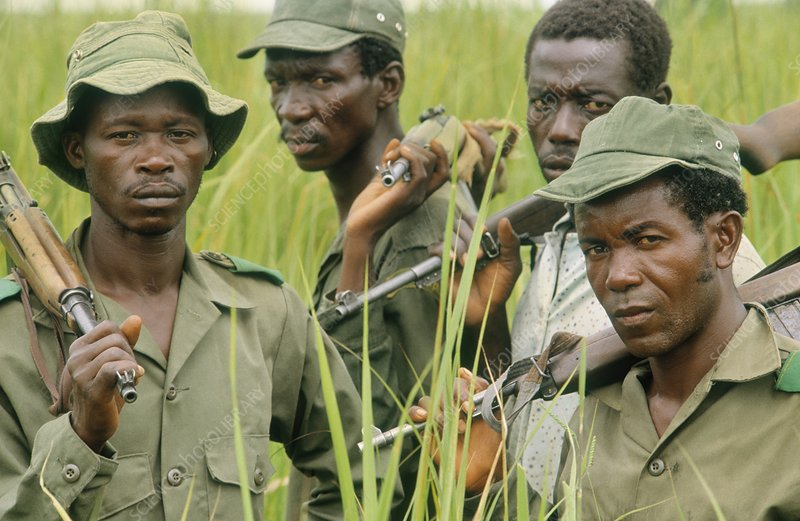 Park guards, Garamba Congo
