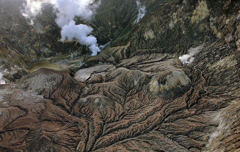 Volcanic caldera, White New Zealand
