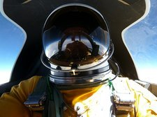 ER-2 aircraft pilot in the stratosphere
