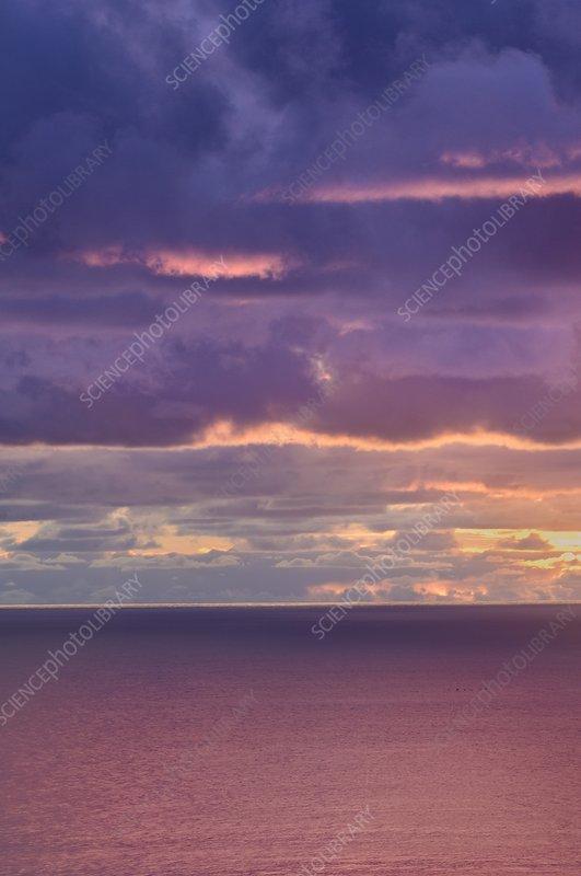 Winter sunset, California