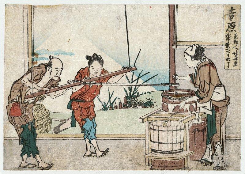 Paper-making, Japan, artwork