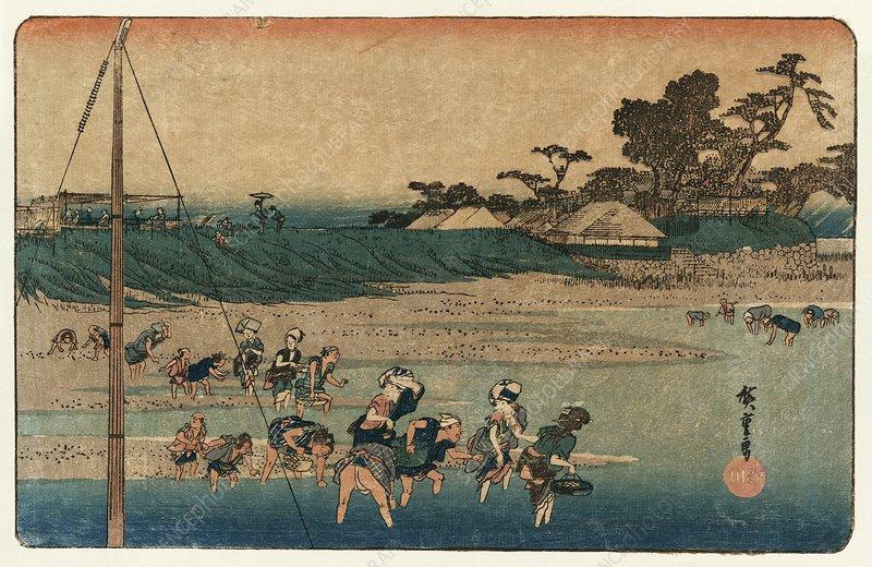 Salt gathering at Suzaki