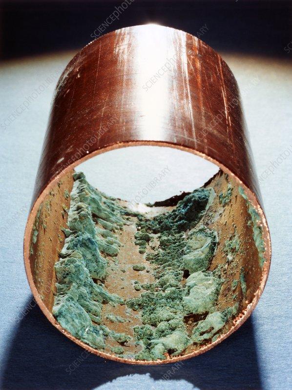 Copper pipe deposits