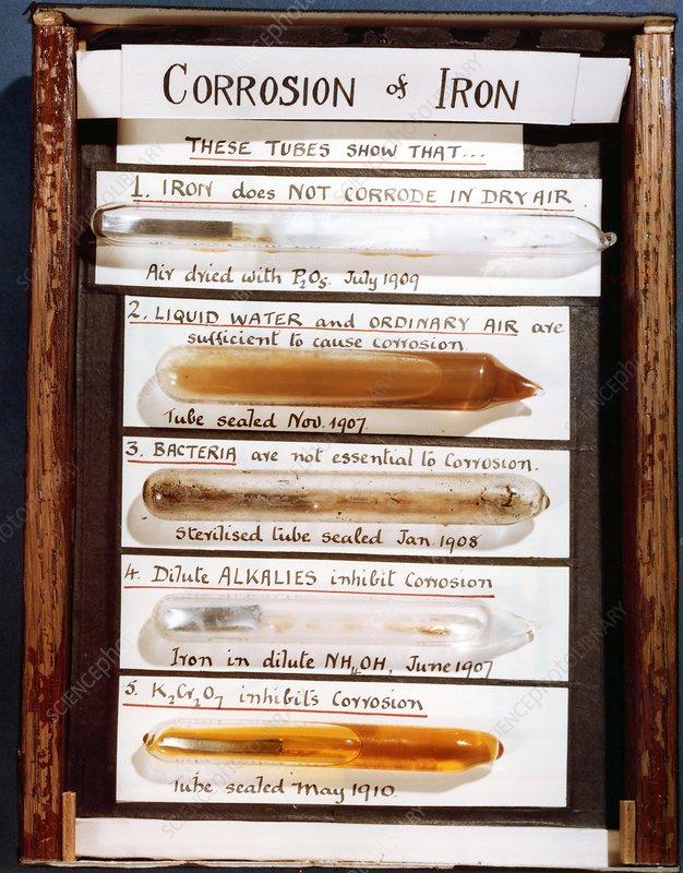 Historical iron corrosion samples