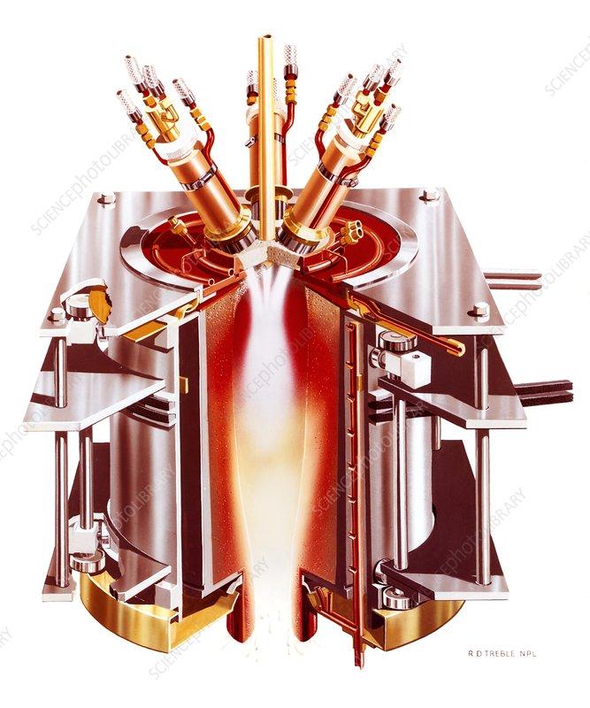 Centrifugal plasma furnace