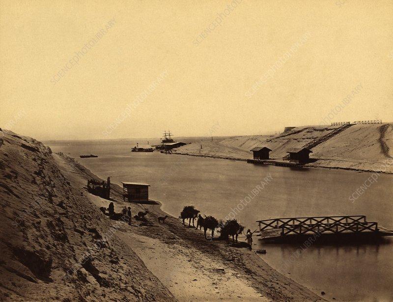 Suez Canal, Egypt, 19th century